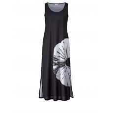 Jersey-Maxikleid mit Batik-Print Angel of Style schwarz/weiß