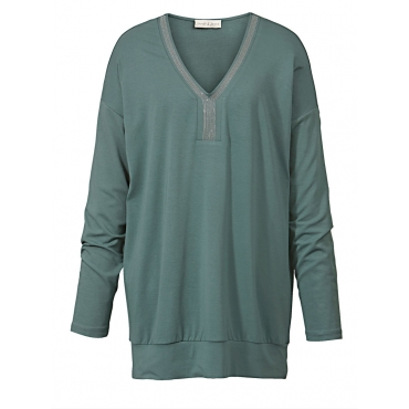 Jersey-Shirt Janet & Joyce dunkel mint