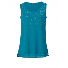 Jersey-Top mit Strass Sara Lindholm cyclam