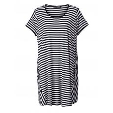Jersey-Tunika gestreift Gozzip schwarz-weiß
