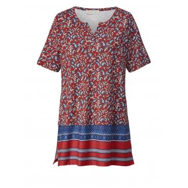 Jersey-Tunika mit Allover-Print Janet & Joyce Multicolor