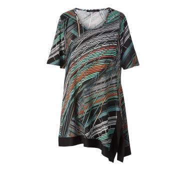Jersey-Tunika mit Allover-Print Sara Lindholm Multicolor