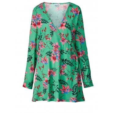 Jersey-Tunika mit Blumen-Print Angel of Style Pink