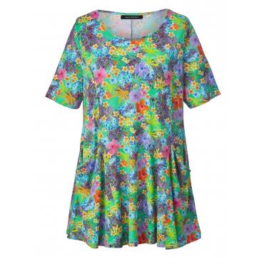 Jersey-Tunika mit Blumen-Print Sara Lindholm Multicolor
