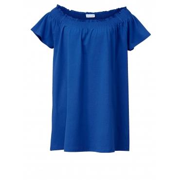 Jersey-Tunika mit Carmen-Ausschnitt Angel of Style Royalblau