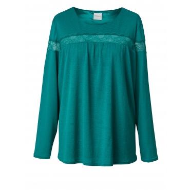 Jersey-Tunika mit Spitze Junarose Smaragd