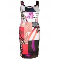 Jerseykleid mit All-Over-Druck Doris Streich rot