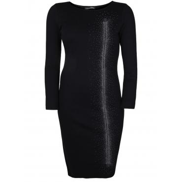 Jerseykleid mit Applikationen Doris Streich schwarz