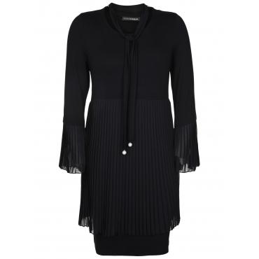 Jerseykleid mit Plissee-Einsätzen Doris Streich schwarz