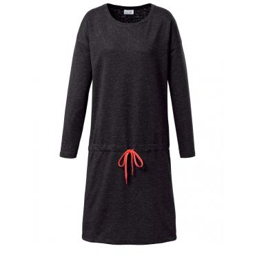 Jerseykleid mit Tunnelzug Angel of Style schwarz meliert