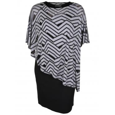 Jerseykleid mit Viskose-Überwurf Doris Streich hellgrau