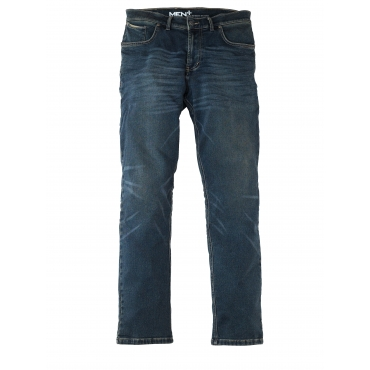 Jog Denim Men Plus dark blue used/gelb