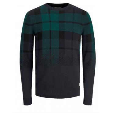 Karo-Pullover Jack & Jones Marineblau::Grün
