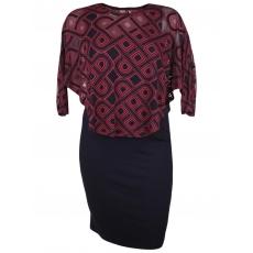 Kleid 2-in-1 mit Überwurf Doris Streich chianti