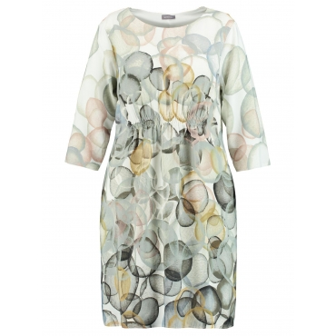 Kleid aus fließender Viskose Samoon Offwhite Druck