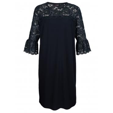 Kleid MIAMODA Marineblau::Silberfarben