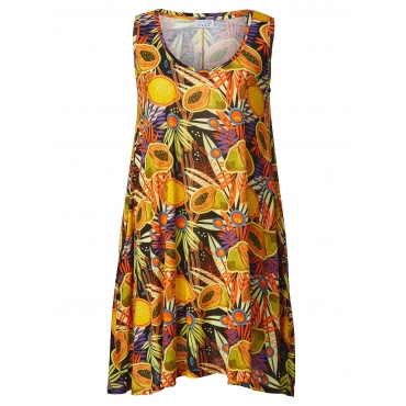 Kleid mit Allover-Print Angel of Style Multicolor
