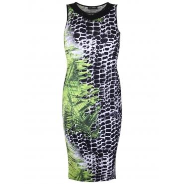 Kleid mit Allover-Print Doris Streich kiwi