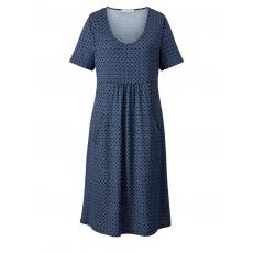 Kleid mit Allover-Print Janet & Joyce Blau bedruckt