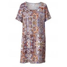 Kleid mit Allover-Print Junarose braun bunt