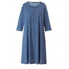 Kleid mit Allover-Print Sara Lindholm blau-gemustert