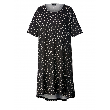 Kleid mit Allover-Print Via Appia Due Schwarz