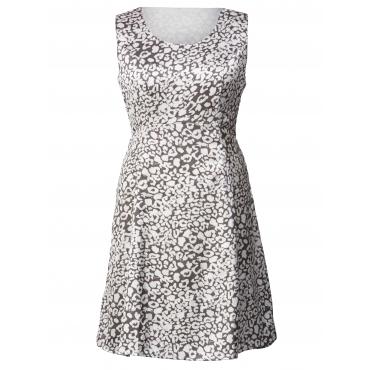 Kleid mit Alover-Print Sara Lindholm Grau