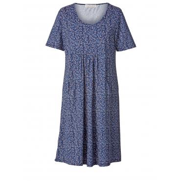 Kleid mit Blumen-Print Janet & Joyce Blau