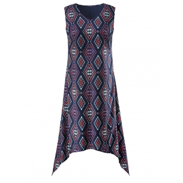 Kleid mit Ethno-Print Angel of Style marine-gemustert