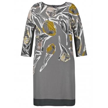Kleid mit Floral-Print Samoon Grau