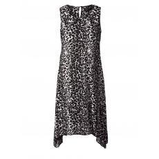 Kleid mit Leo-Print Sara Lindholm gemustert