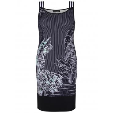 Kleid mit Print Doris Streich schwarz