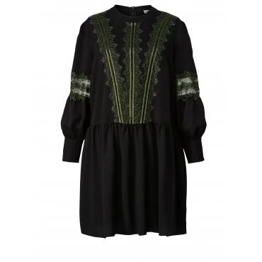 Kleid mit Spitze Junarose Schwarz