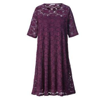 Kleid mit Spitze Zhenzi Aubergine