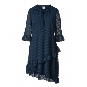 Kleid mit Volants Junarose Petrol