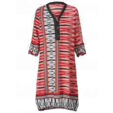 Kleid One More rot-schwarz-weiß