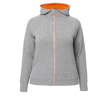 Lässige Jacke mit Farbkontrast Frapp light grey melange