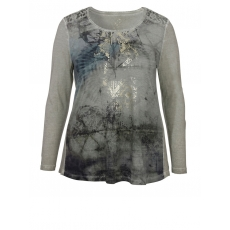 Langarm-Shirt im Ethno-Chic Via Appia Due Schilf Multicolor