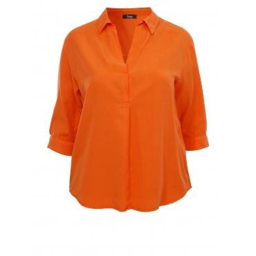 Legere Bluse mit verlängerter Rückseite Frapp bright orange