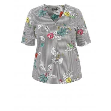Leichtes Blusen-Shirt mit Mustermix Via Appia Due SCHWARZ MULTICOLOR