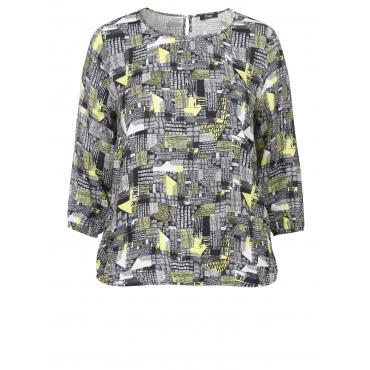 Leichtes Blusen-Shirt mit Printmuster Frapp black multicolor