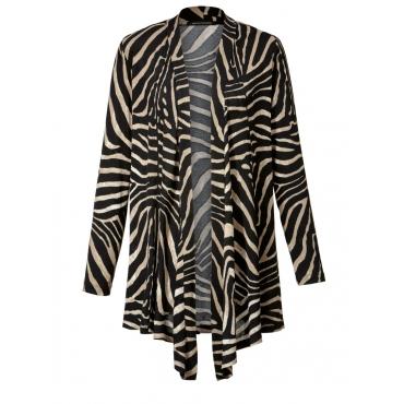 Leichtstrick-Jacke mit Zebra-Print Sara Lindholm bordeaux/schwarz