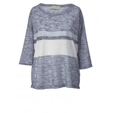 Leichtstrick-Pullover Janet & Joyce Blau