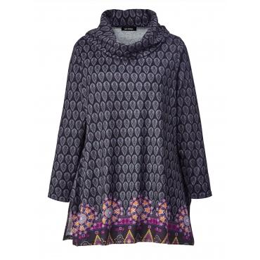 Leichtstrick Pullover mit Allover-Print Sara Lindholm Multicolor