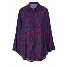 Longbluse in Oversize-Form Sara Lindholm marine/cyclam