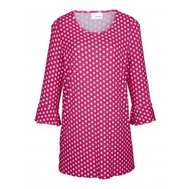 Longshirt MIAMODA Weiß::Pink