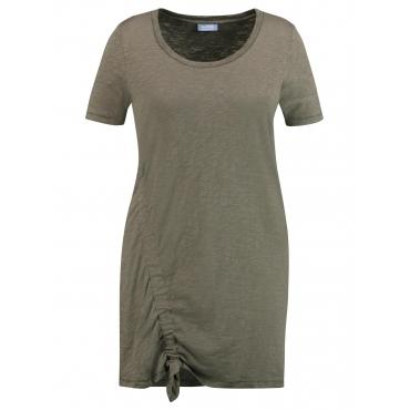 Longshirt mit Raffung Samoon Meadow Green