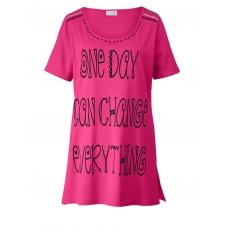 Longshirt mit Statementprint Angel of Style schwarz mit Druck