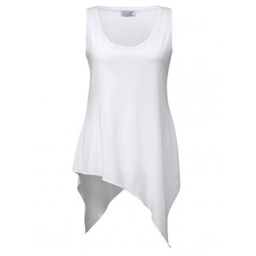 Longtop mit asymmetrischem Saum Angel of Style weiß