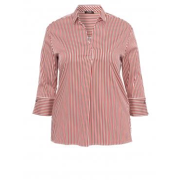 Luftige Bluse mit Raffung Frapp off white / dark red